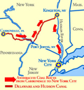 Delaware Hudson Canal Map