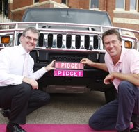 Pink number plates